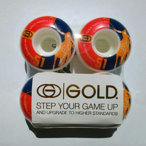 Колеса GOLD WHEELS 51mm 101A